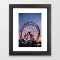 Multi Color Spin Framed Art Print