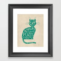 'The Cat That Walked By … Framed Art Print