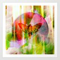 The butterfly of rising sun Art Print