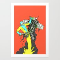 Art Print featuring Deathwing's Demise by Isaboa