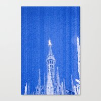 Night of Blue over Milan Canvas Print