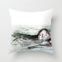 Go Swimming Throw Pillow