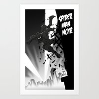 Spiderman Noir Art Print