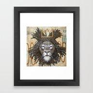 Hommage A Basquiat Framed Art Print