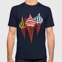 Summer In Moscow Mens Fitted Tee Navy SMALL