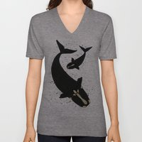 Right Whales From Above Unisex V-Neck