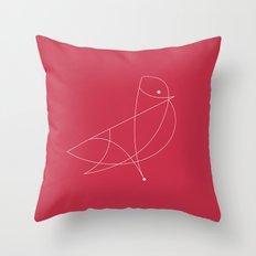 Contours: Cardinal (Line) Throw Pillow