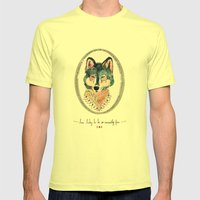 How Lucky To Be So Unusu… Mens Fitted Tee Lemon SMALL