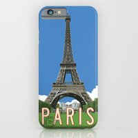 iPhone & iPod Case featuring Paris Travel Poster - Vintage Style by Michael Jon Watt