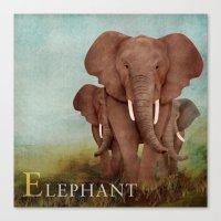 ABC Poster E - Elephant Canvas Print