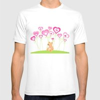 Bouquet Of Hearts Mens Fitted Tee White SMALL