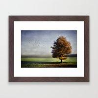 Dressed In Autumn Framed Art Print