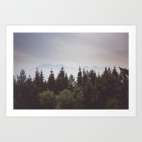 Mountain Range Art Print