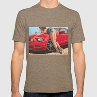 Girl & car II Mens Fitted Tee Tri-Coffee SMALL
