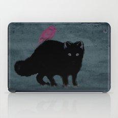 Cat and bird friends! iPad Case