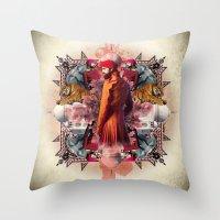 Kaleidoscope India Throw Pillow