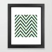 chevron pattern #2 Framed Art Print