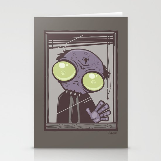 Office Zombie Stationery Card