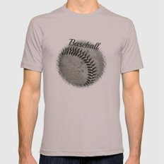 Baseball Mens Fitted Tee Cinder SMALL
