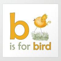 B Is For Bird,  Children… Art Print