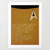 Space: The Final Frontie… Art Print