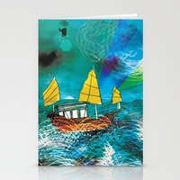 Come and Sail with me through the Stormy Sea Stationery Cards