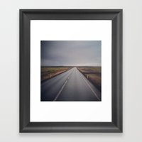 The Road From Iceland Framed Art Print