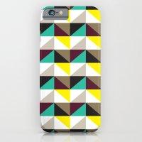Yellow, purple, turquoise triangle pattern iPhone 6 Slim Case