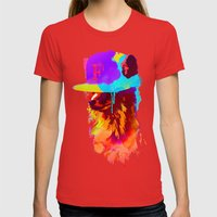 Foxey's Favorite Cap Womens Fitted Tee Red SMALL