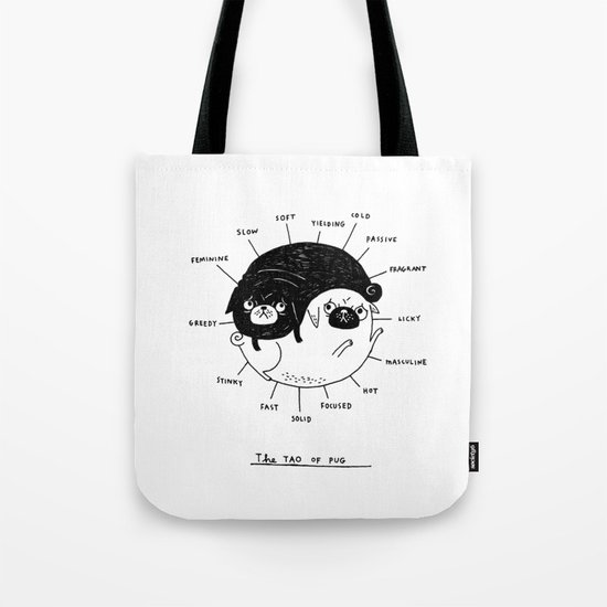 The Tao of Pug Tote Bag