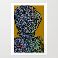 Windower Mustard Art Print