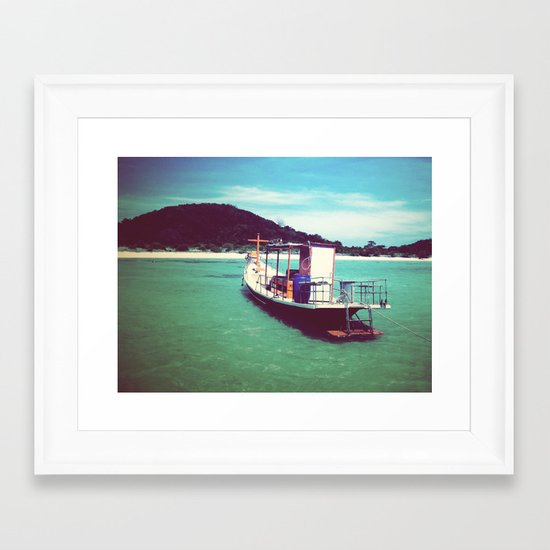 Longboat, Thailand Framed Art Print