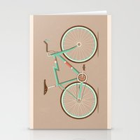 bicycle Stationery Cards featuring Bicycle by Daniel Mackey