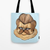 Ron Swanson Cat Tote Bag
