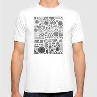 Modern Elements With Bla… Mens Fitted Tee White SMALL