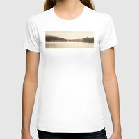 A New Day  - Foggy Morning at Laurel  Womens Fitted Tee White SMALL