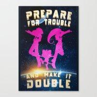 Team Rocket Galaxy (Poke… Canvas Print