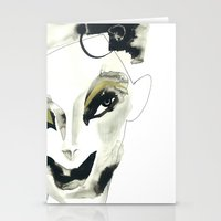 a faint smile Stationery Cards