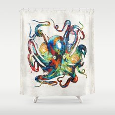 Colorful Octopus Art By … Shower Curtain