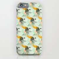 iPhone & iPod Case featuring Parrots Print (Coral) by Jasmine Sierra