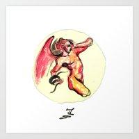 Ange Enflammé Art Print