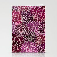 Floral Abstract 12 Stationery Cards