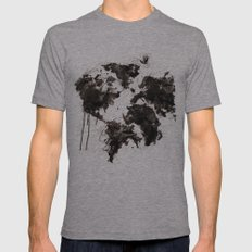 Wild World Mens Fitted Tee Athletic Grey SMALL