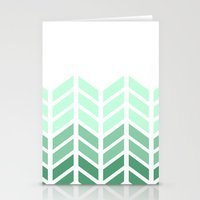 OMBRE LACE CHEVRON Stationery Cards