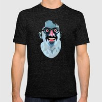 Portrait of Alonso Quijada Mens Fitted Tee Tri-Black SMALL