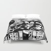 Sound & Vision: 2013 in Music by Steven Fiche Duvet Cover