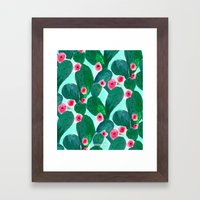 Jade Cactus Bloom Framed Art Print