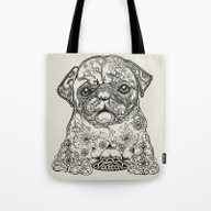 Persian Pug Tote Bag