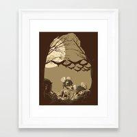 Woodland Wars Framed Art Print
