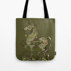 Unicorn of War Tote Bag